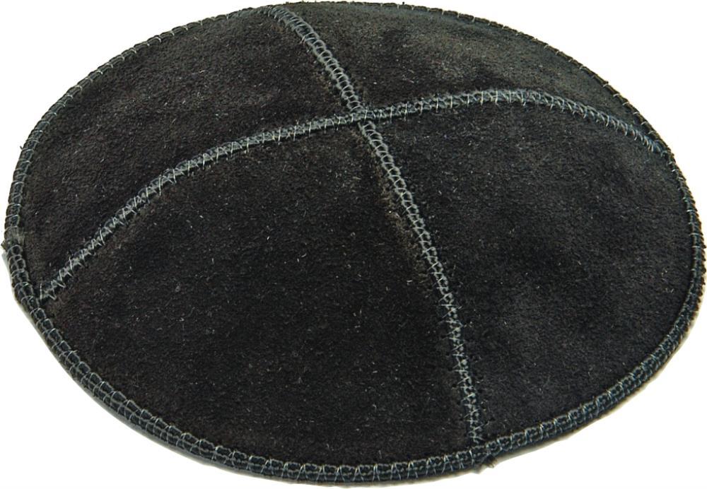 Suede Kippah 13 Cm- Black