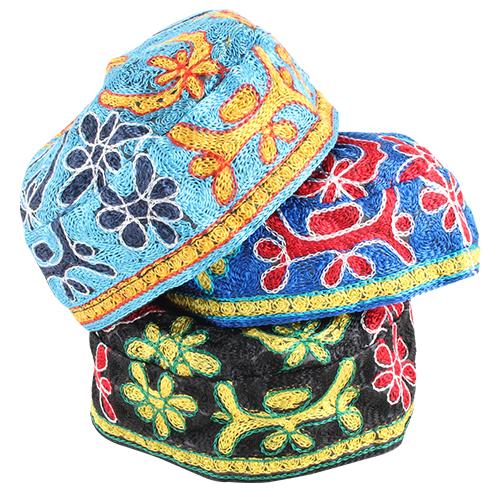 """bukharian"" Kippah Machine Made 60 -  Assorted Colors"