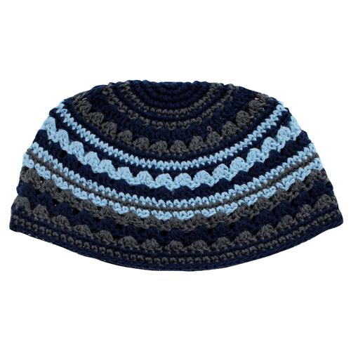 Frik Kippah 26cm- Light Blue-gray-blue