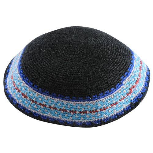 Knitted D.m.c Kippsh 20 Cm - Black With Blue