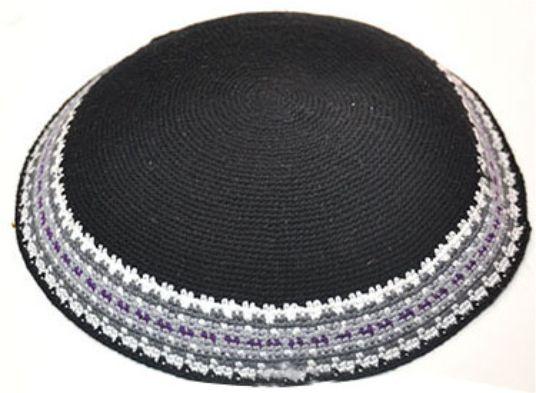 Knitted D.m.c Kippsh 20 Cm - Black With White
