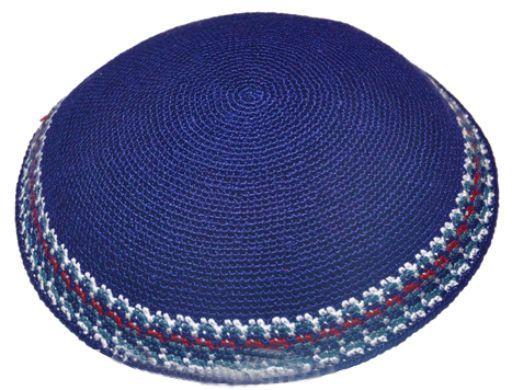 Knitted D.m.c Kippsh 20 Cm- Blue With White