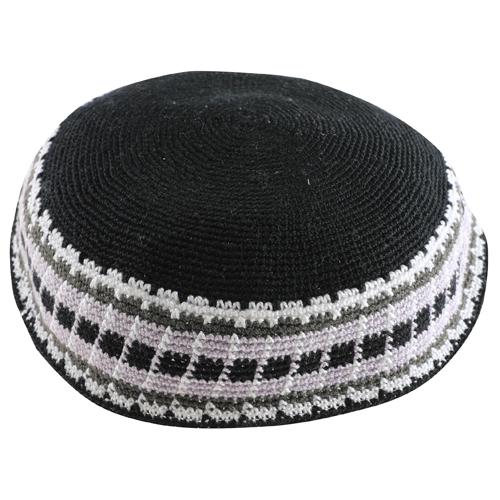 Knitted D.m.c Kippsh 22 Cm - Black With White