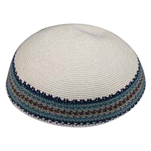 Knitted D.m.c Kippsh 23 Cm - White With Brown