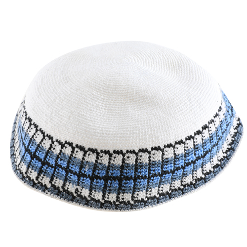 Knitted D.m.c Kippsh 22 Cm - White With Gray