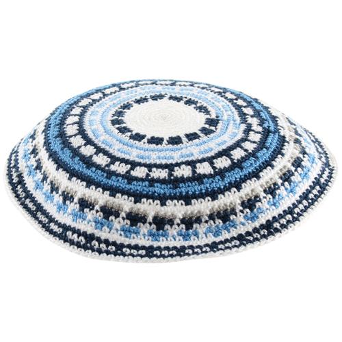 Knitted DMC Kippah 20cm- Multicolored