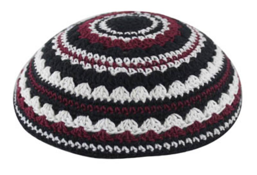 Knitted Kippah 20cm- In Black
