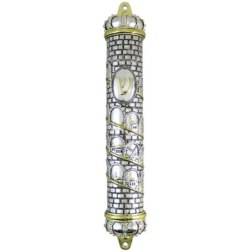 Polyresin Mezuzah 25cm- Jerusalem Motif