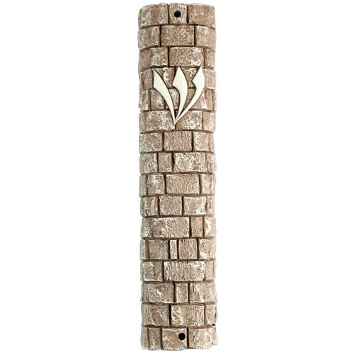 Polyresin Stonelike Mezuzah 25 Cm- Kotel Stones Design