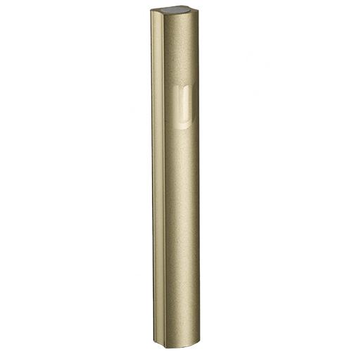 Aluminium Mezuzah 7cm- Dotted Design In Gold