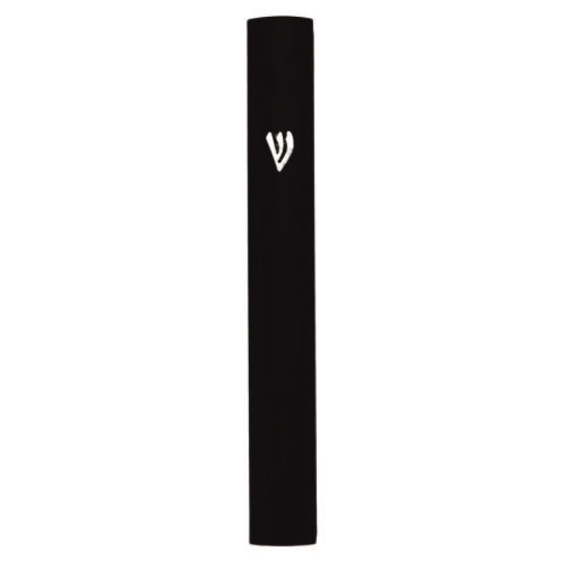 Black Aluminum Mezuzah 15 Cm - Special Profile