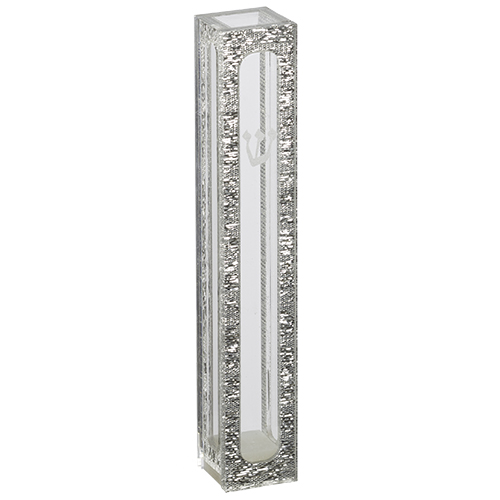 Perspex Mezuzah 7 Cm With Printed Shin And Frame