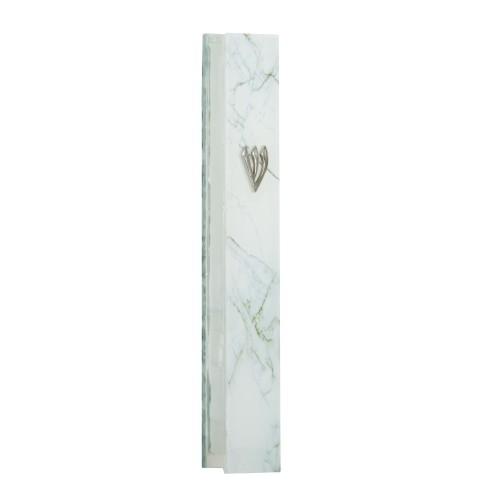 Glass Mezuzah 7cm- Beige