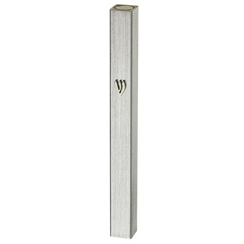 Aluminum Mezuzah 10 Cm- Silver