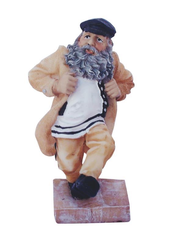 Polyresin Hassidic Figurine Stands On Stage 11 Cm - Kozachock Dancer