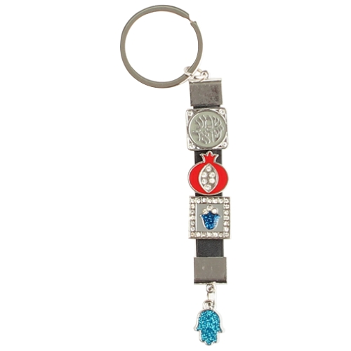 Keychain 9cm- Four Multicolored Amulets