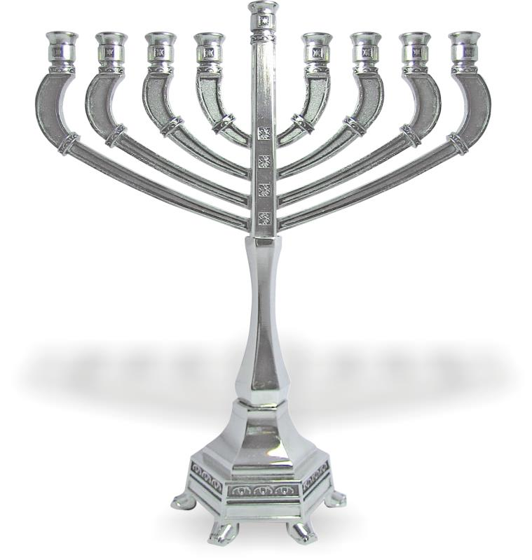"""diamond"" Menorah Branches With Droplet Design 19.5cm"