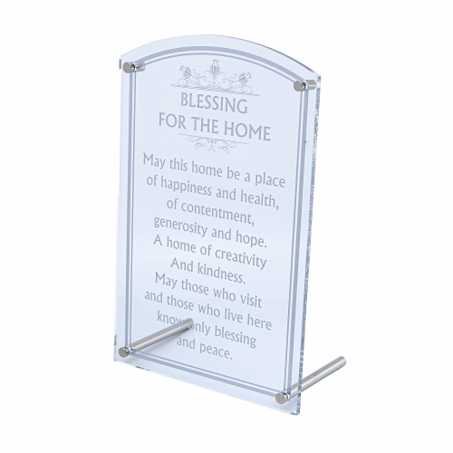 Perspex Stand And Hanging Option- English Home Blessing 28x18 Cm
