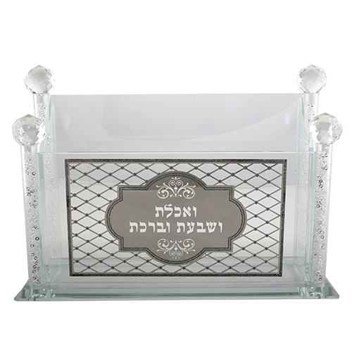 Crystal Benchers Stand With Metal Plaque 22x31 Cm