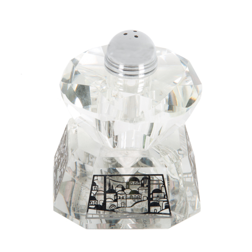 Crystal Salt Shaker 8*11cm- Laser Cut Metal Plaque