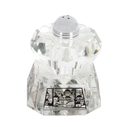 Crystal Salt Shaker 8*11cm- Laser Cut Metal Plaque