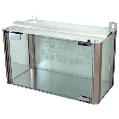 An Aluminum And Glass Menorah Box -  22x40x19 Cm - Cooper Profiles
