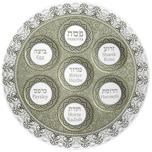 Glass Passover Plate 40 Cm - Transparent