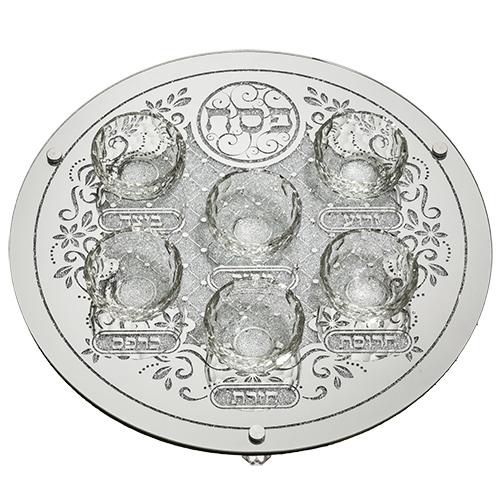 Glass Pesach Plate 40 Cm