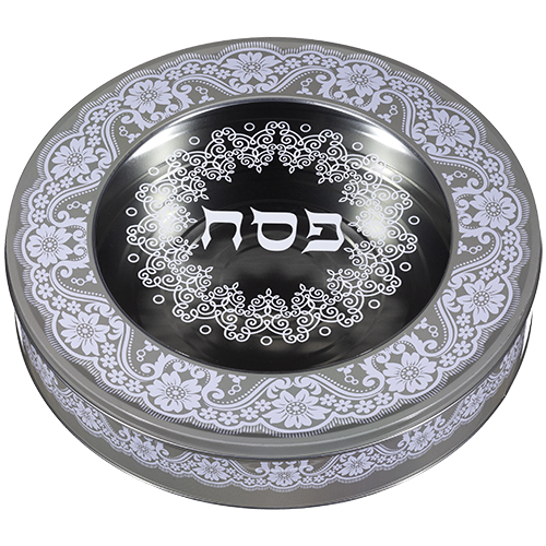Tin Round Matzah Box34 Cm- Beige