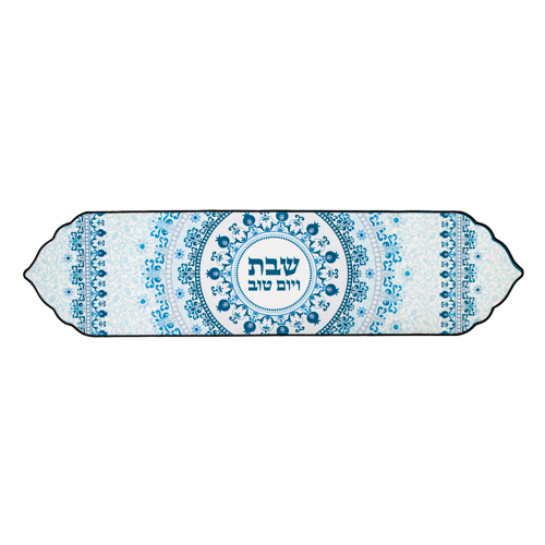 Thermal Insulation Runner For Tablecloth 30x119 Cm- Blue Pomegranates Design -special Design