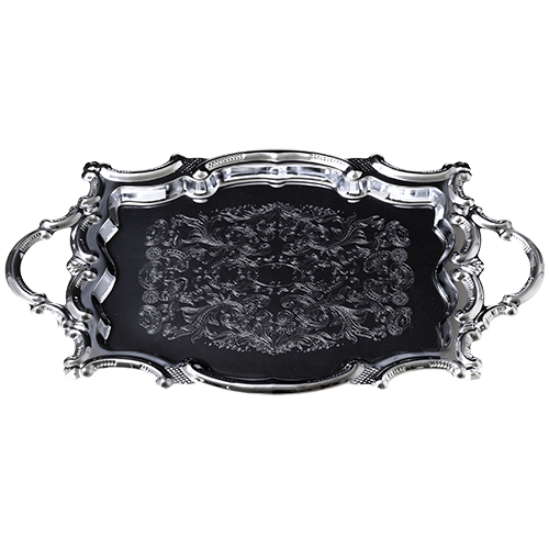 Nickel Tray With Handles 26x37 Cm