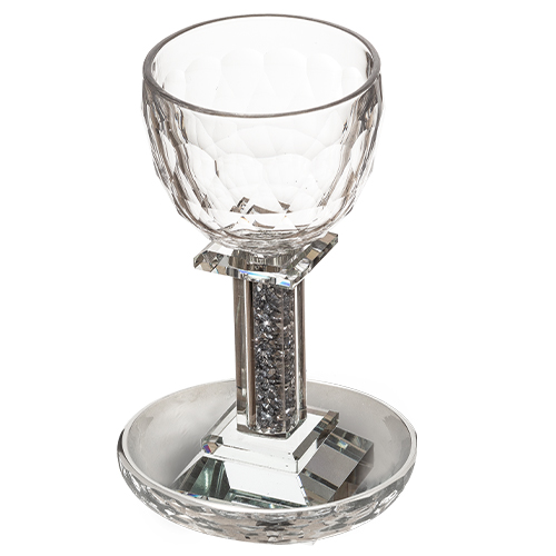 Crystal Kiddush Cup 18 Cm With Stones