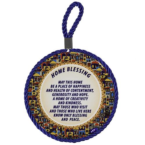 Ceramic Decoration Plate 11 Cm- English Home Blessing