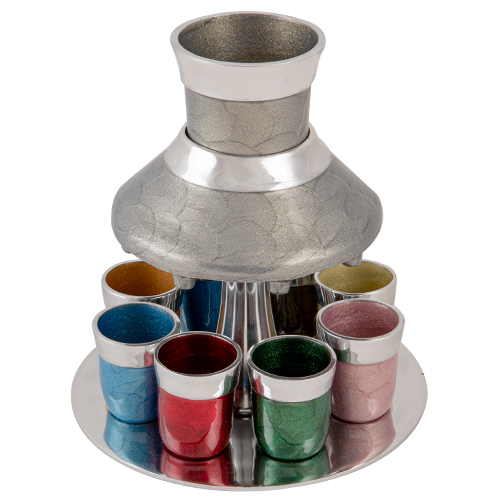 Aluminum Wine Divider With 8 Small Cups 21 Cm - Colorful