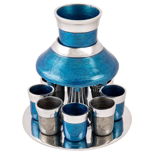 Aluminum Wine Divider With 8 Small Cups 21 Cm