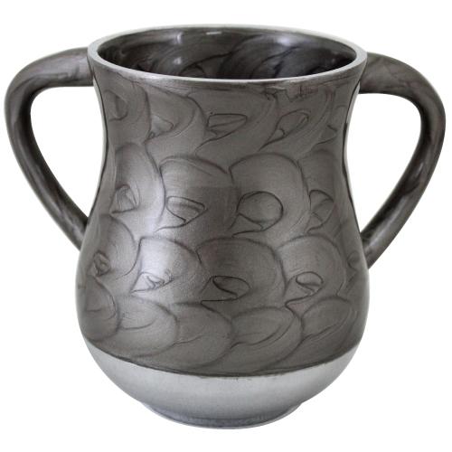 Aluminium Elegant Washing Cup 13 Cm- Gray