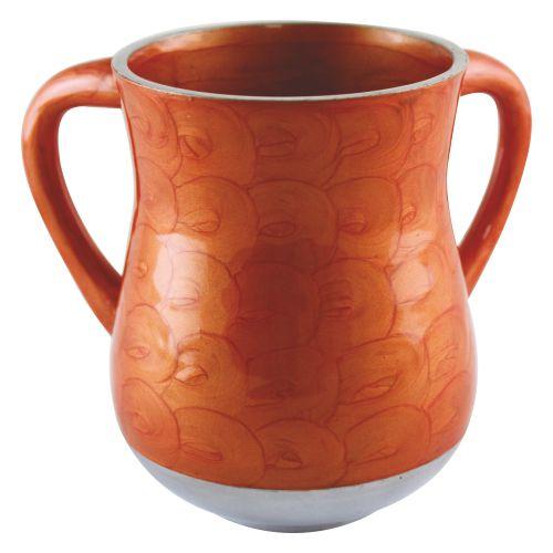 Aluminium Elegant Washing Cup 14cm- Orange