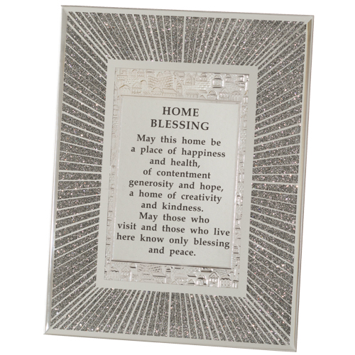 """Glass Miror Glitter  English Home Blessing 22x17 Cm- """"lines"""""""