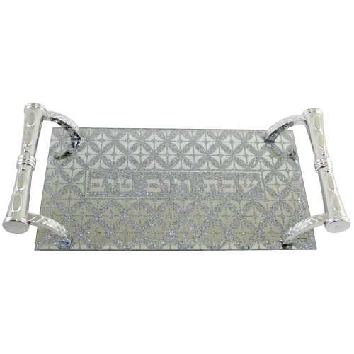 Glass Tray With Handles 5x29x14 Cm