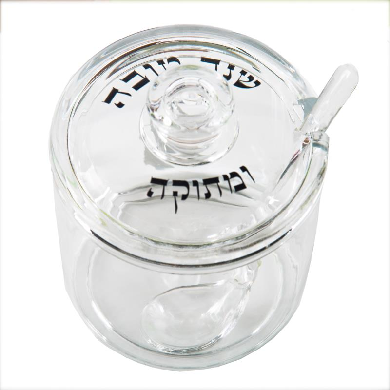 "Acrylic Honey Dish 11x9 Cm ""happy New Year"""