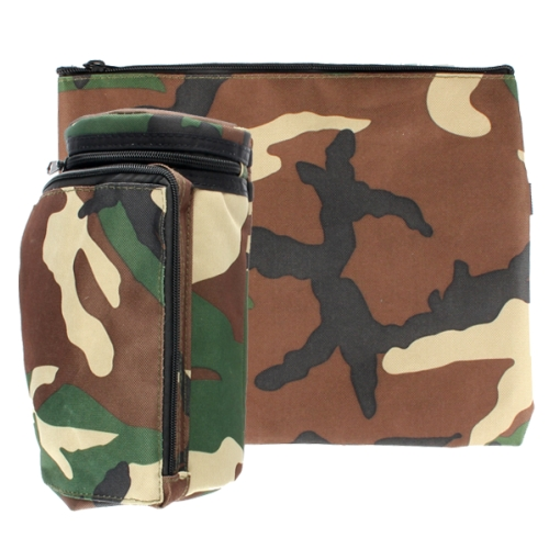 "Plastic Insulated ""tik-taf"" Tefillin Container 22cm- Green Camouflage"