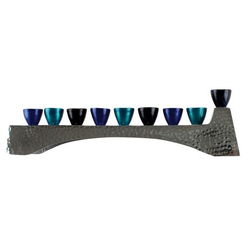 Elegant Hammered Design Menorah 30.5*7cm