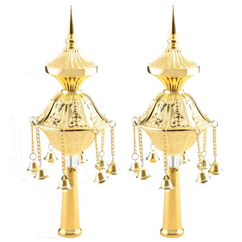 Pair Of Rimonim For Torah 32 Cm- Golden