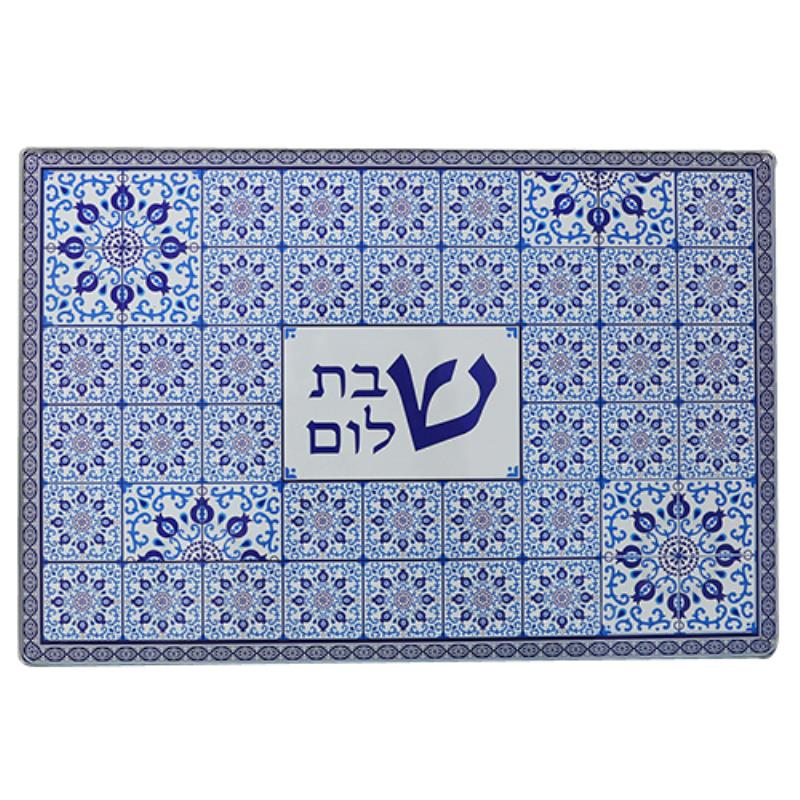 Reinforced Thick Glass Challah Tray 25x37 Cm