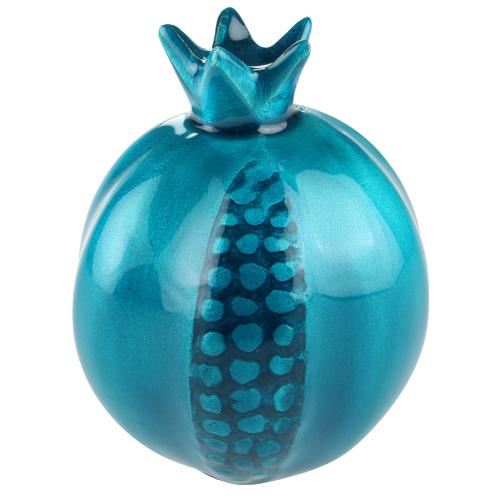 Aluminium With Blue Enameled Pomegranate 12cm