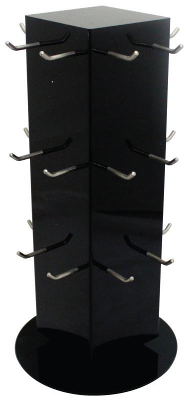 Plexiglass Stand For Keychains 41 Cm- 24 Hooks