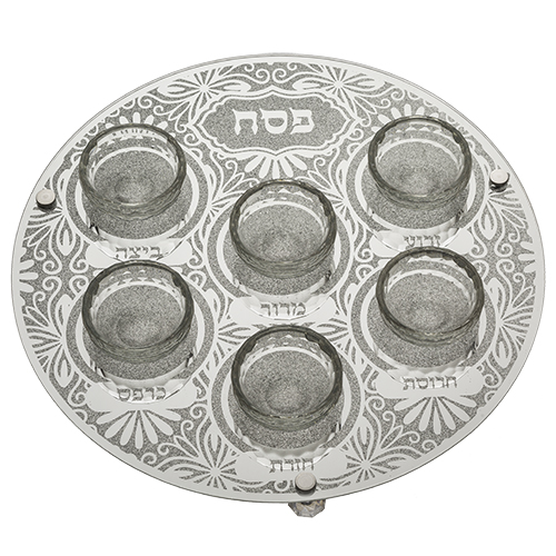 Glass Passover Plate 35 Cm - Ornaments