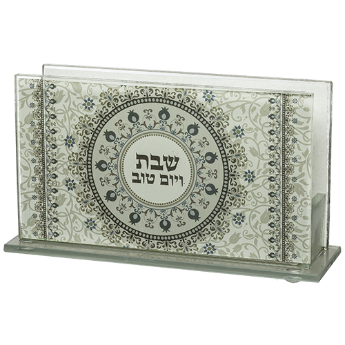 Glass Matches Holder 12.5*8 Cm With Print- Candle Lighting