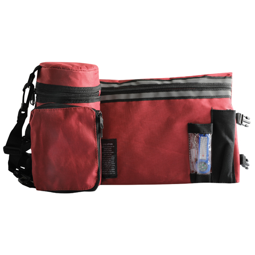 Dark Red Tefillin Container Tik-taf 23cm