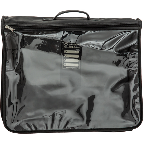 An Elegant Faux Leather & Pvc Nylon Talit & Tefillin Bag With Handle 37x43 Cm